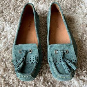 Lacoste Lexington Suede Moccasins Loafer Size 5